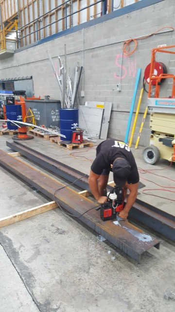 Drilling and cutting steel
